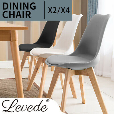 AU99.99 • Buy 2/4x Levede Retro Leather Dining Chairs Home Office Cafe Lounge Seat Chair