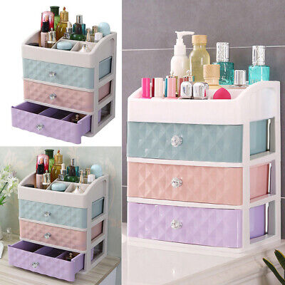 Cosmetic Organizer Makeup Case Holder Drawers Display Stand Jewelry Storage Box • 14.95£