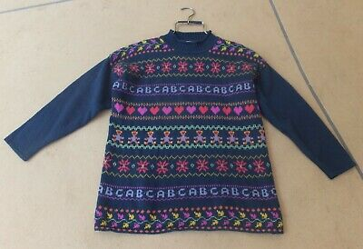 AU19 • Buy NICOLE EARTH (Witchery) Vintage 90s Tunic Jumper Shetland Wool Patterned- Size M