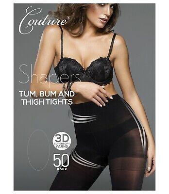 Couture Shapers Tum Bum And Thigh Tights 50 Denier Matte Leg • 8.99£