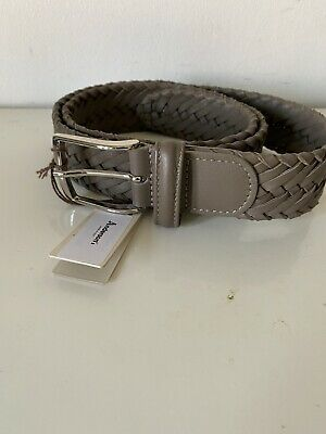 £45 • Buy Anderson's Weaved Men Brown Leather Belt UK34 EU85 Made In Italy New