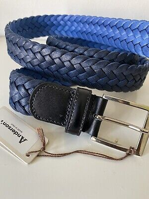 £45 • Buy Anderson's Weaved Men Blue Belt UK38 EU95 Made In Italy New With Tag