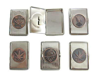 Metal Tobacco Tins Rolling Smoking Case Leaf Eagle Engrave Stainless Steel UK • 3.48£