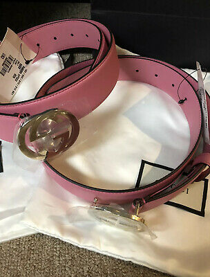 AU479.97 • Buy Authentic Gucci GG  Pink Belt New W/ Tags