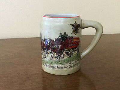$ CDN39.20 • Buy 1980 1st Budweiser Clydesdales Beer Stein Mug Ceramarte This 1's For You