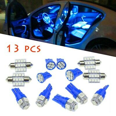 AU7.98 • Buy 13x Pure Blue Car Interior LED Light For Dome License Plate Lamp Accessories Kit