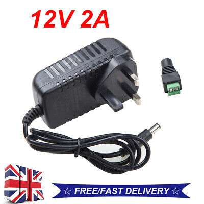 12V 2A UK Plug AC/DC Adapter Power Supply Charger For LED Strip CCTV Camera~UK* • 5.59£