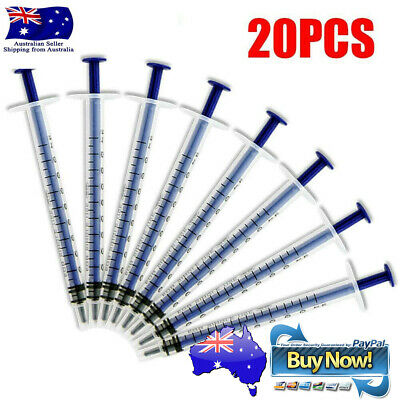 AU5.50 • Buy 20x 1ml Plastic Disposable Injector Syringe For Refilling Measuring Nutrient Set