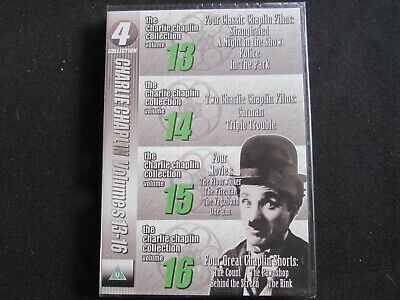 Charlie Chaplin Collection Volumes 13-16 DVD (2008) Brand New & Sealed • 4.49£
