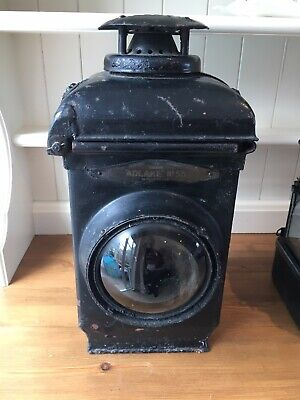 2 Antique Railway Signal Gas Lamps - Non Sweating Nice Condition. Adlake 55 • 75£