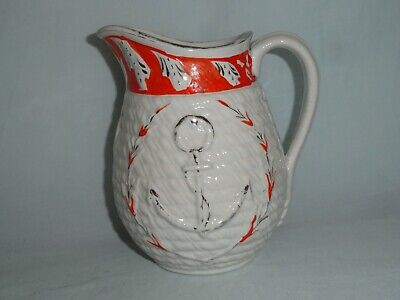 Staffordshire 'rope & Anchor' Moulded Jug • 6.50£
