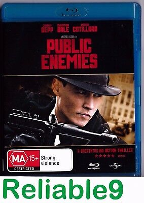 AU6.95 • Buy Johnny Depp- Public Enemies Bluray+Exclusive Features Not Sealed- 2009 Australia