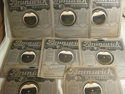 $14.50 • Buy Lot Of 8 BRUNSWICK 78 RPM Records With Sleeves.