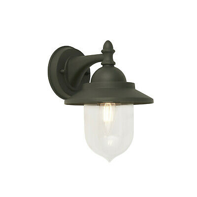 Modern Grey IP44 Outdoor Exterior Wall Light Lantern LED Compatible • 17.99£