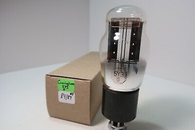 $ CDN40.07 • Buy 5Y3G Cunningham Hanging Filament Tested Rectifier Amp Radio Valve Vacuum Tube