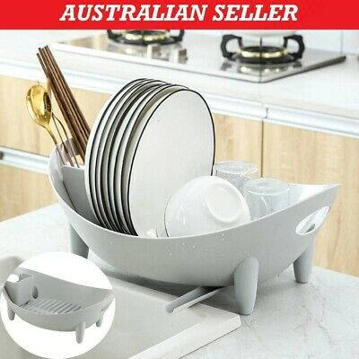AU24.05 • Buy Multifunction Drying Rack Plate Cup Drainer Tray Utensil Cutlery Holder Dish