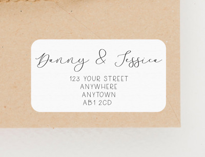 £2.30 • Buy Personalised Address Labels / Stickers - Wedding, New Home, RSVP, Return Sticker