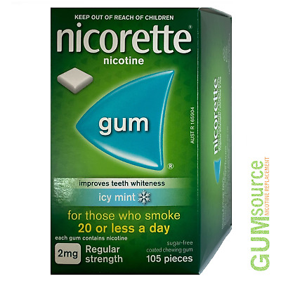 $ CDN23.27 • Buy Nicorette 2mg COATED ICY MINT  1 Dented Box 105 Pieces Nicotine Quit Smoking Gum