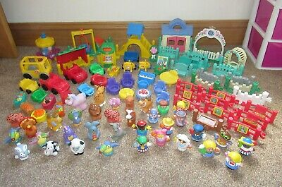 Fisher Price Little People Bundle Figures Animals Furniture Vehicles Playground • 20£