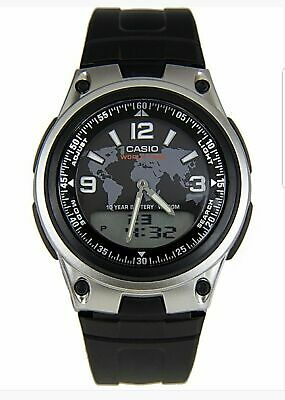 Casio AW-80 Telememo 30 World Time Alarm Chrono Digi Ana LCD Digital Watch NEW • 19.99£