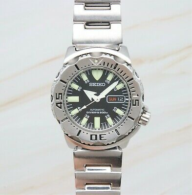 $ CDN387.97 • Buy Seiko Superior SKX779 Men's 200m Diver Black Monster Automatic Watch 140356
