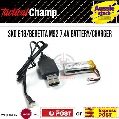 AU28.35 • Buy SKD G18/Beretta M92 Gel Blaster Replacement Parts 7.4v Battery USB Charger GLK18