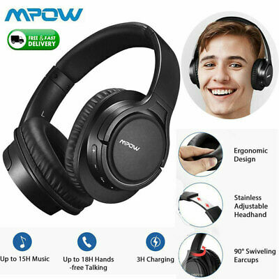 Mpow H7 Over Ear Bluetooth Headphones Noise Cancelling Bass Wireless Headset MIC • 22.79£