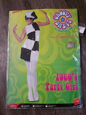 $9.99 • Buy MM Adult 1960s Party Girl Halloween Costume Size S