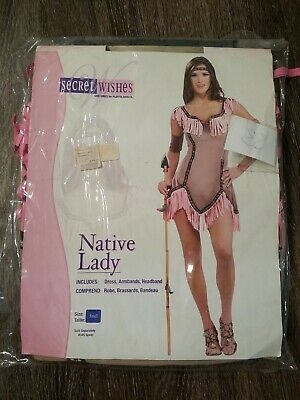 $12.99 • Buy MM Adult Native Lady Halloween Costume Size S