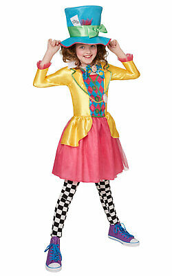 Rubies Alice In Wonderland Mad Hatter Childs/Girls Fancy Dress Costume 9-10 Yrs • 9.99£