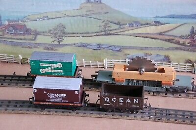 Hornby Dublo BR 2/3 Rail Mixed Goods – SR Containers, Ocean Coal, Loaded Weltrol • 15.50£