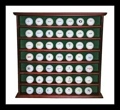 Stylish 49 Ball Golf Ball Cabinet | Display Unit | Wooden Construction • 47.49£