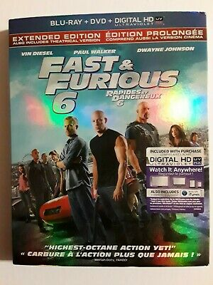 $ CDN10.50 • Buy Fast  Furious 6 (Blu-ray/DVD, 2013, 2-Disc Set, ) New Sealed With Slip Cover
