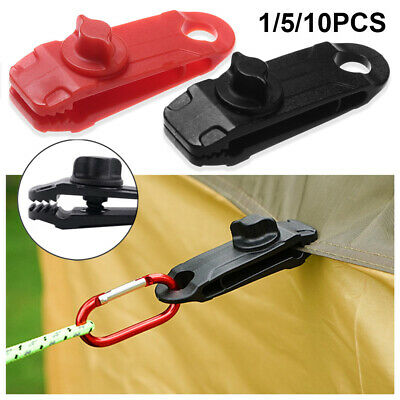 1/5/10X Reusable Windproof Clip Awning Clamp Tarp Clips Snap Hanger Tent Camping • 3.07£
