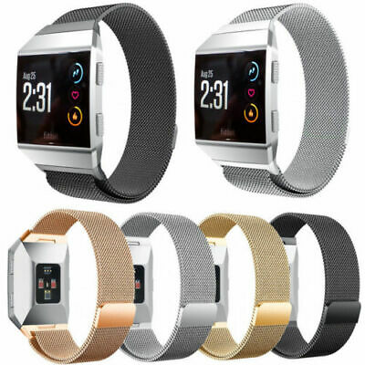 $ CDN12.98 • Buy Stainless Steel Wrist Band Strap For Fitbit Ionic Replacement Milanese Loop
