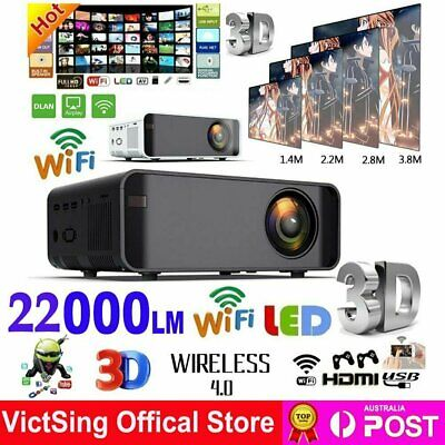 AU140.89 • Buy Smart 1080P HD Android WiFi 3D Mini Video Projector Home Theatre Cinema HDMI USB