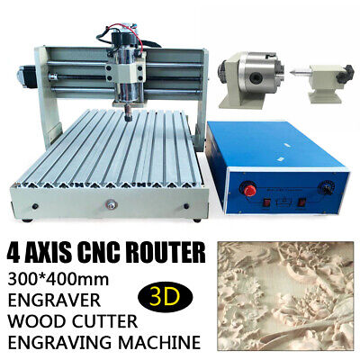 AU799 • Buy 4-Axis 3040 CNC Router Engraver Engraving Cutting Machine Wood Carving 400W AU