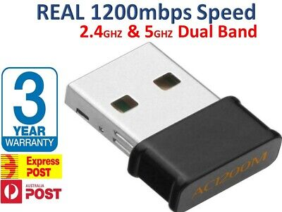 AU15.80 • Buy 1200Mbps Wireless WiFi Network Receiver Adapter 2.4 / 5GHz Dual Band Dongle