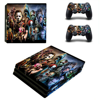 AU17.28 • Buy PS4 Pro Console Controller Vinyl Skin Sticker Scary Horror Killers Michael Jason