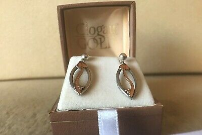 Glogau Solid Silver And Rose Gold Earrings  • 23£