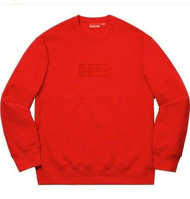 $ CDN266.68 • Buy Supreme Cutout Logo Crewneck Red Size Medium Box Logo SS20 Order Confirmed !!