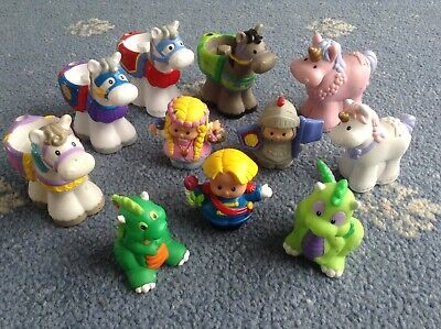 Children's Toys Fisher Price Little People Knight Horses Princess Dragon Unicorn • 5£