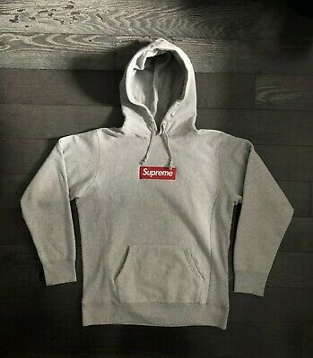 $ CDN801.61 • Buy Supreme Box Logo Hoodie Heather Grey Red Bogo FW16 Size Large L Bogo Great Cond.