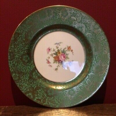 Vintage Large MINTON BROCADE Bone China CABINET PLATE * Aqua * • 30£