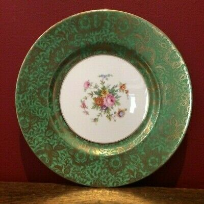 Vintage Large MINTON BROCADE Bone China CABINET PLATE * Green * • 30£