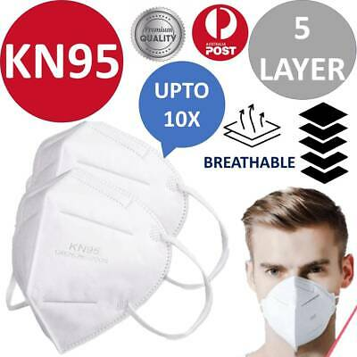 AU15.78 • Buy KN95 Face Mask Particulate Respirator 5 Layers CE Anti Dust Surgical AU 1/5/10