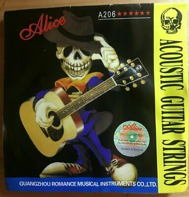 AU8 • Buy 2 Sets Alice Premium Acoustic Guitar Strings Set Super Light 11-52 Free Pick X 2