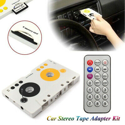 £13.09 • Buy Car Stereo Cassette Tape SD MMC Mp3 Player Adapter With Remote Control USB Cable