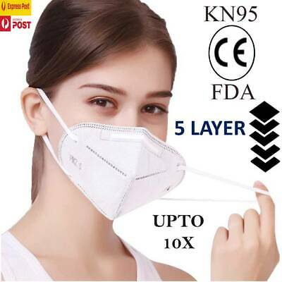 AU15.47 • Buy KN95 Mask Disposable Masks Reusable Face Filter Anti Dust Respirator UPTO10X