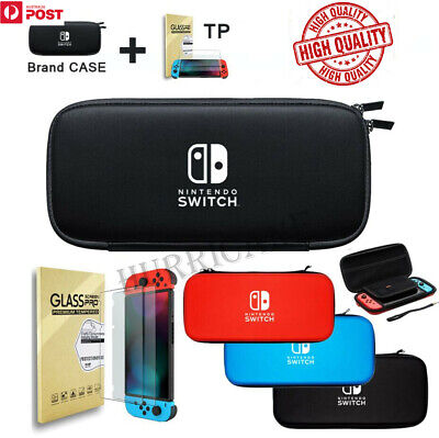 AU17.50 • Buy  Nintendo Switch Shell Carry Case Storage Bag Protective Cover +2 Tempered Glass